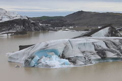 Melting ice in Iceland. Iceland is full of equally surprising glacier Royalty Free Stock Image