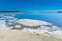 Melting ice on the lake Stock Photography