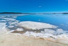 Melting ice on the lake Stock Photography