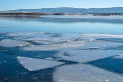 Melting Ice Lake Royalty Free Stock Photography