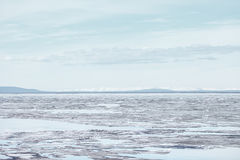 Melting Ice on Lake Surface. Nature Background Royalty Free Stock Photos