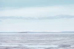 Melting Ice on Lake Surface. Nature Background Royalty Free Stock Images