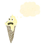 Melting ice lolly cartoon Stock Images