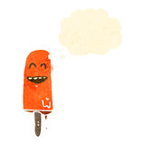 Melting ice lolly retro cartoon Royalty Free Stock Images