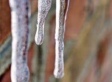 Melting ice macro shot. Stock Photo