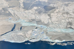 Melting ice over the Greenland Stock Photo
