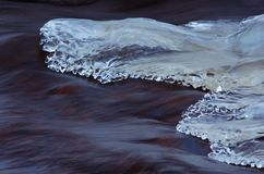 Melting ice on the river Royalty Free Stock Photos