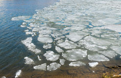 Melting ice on spring lake. 3.4.16 royalty free stock images