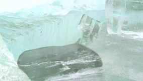 Melting ice stock footage