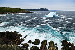 Melting iceberg. Off the coast of Newfoundland, Canada Stock Images