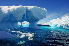 Melting iceberg. A melting iceberg in antarctic waters