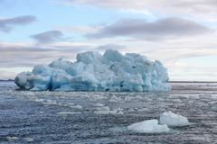 Melting Iceberg in Arctic ocean Stock Photos