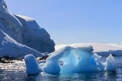 Melting iceberg in summer season, Antarctica. royalty free stock images