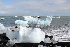 Melting icebergs at the beach. Royalty Free Stock Photography
