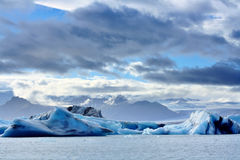 Melting icebergs at Jokulsarlon lagoon, Iceland Royalty Free Stock Photo