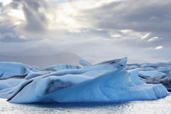 Melting icebergs at Jokulsarlon lagoon, Iceland Royalty Free Stock Images