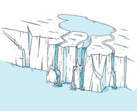 Melting Icecap Glacier Stock Photo