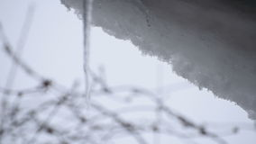 Melting Icicle stock footage
