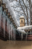 Melting Icicles Royalty Free Stock Photos