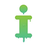 Melting info, support and help desk icon Royalty Free Stock Image