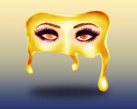 Melting mask Stock Photography