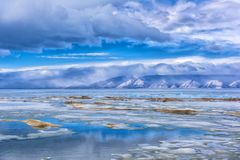 melting in May on Baikal ice, stock image