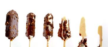 Melting melted chocolate ice cream royalty free stock photo