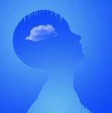 Melting Mind - Altered reality stock illustration