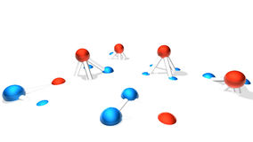Melting molecule module. Colored Set Stock Photos