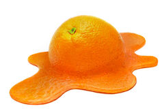 Melting orange Stock Image