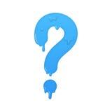 Melting question icon. Ask symbol illustration Royalty Free Stock Photo