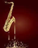 Melting Saxophone Music Stock Photography