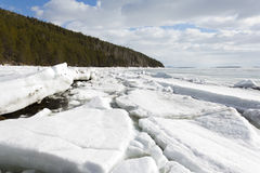 Melting of sea ice. Sea ice is destroyed in the spring Stock Images