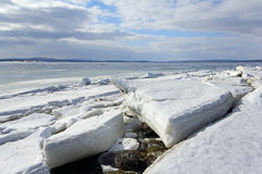 Melting of sea ice. Sea ice is destroyed in the spring Stock Image