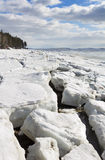 Melting of sea ice. Sea ice is destroyed in the spring Royalty Free Stock Photography