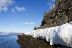 Melting of sea ice. Sea ice is destroyed in the spring Royalty Free Stock Images