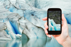 Melting snow in briksdal glacier in Norway Royalty Free Stock Photos
