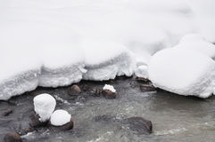 Melting snow on the river Stock Photography