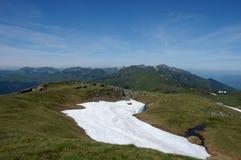 Melting snow on summit Stock Images