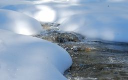 Melting snow on the water Royalty Free Stock Photography