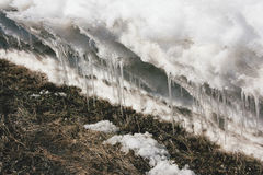 Melting snowdrift Royalty Free Stock Photography