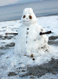 Melting snowman Stock Images