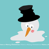 Melting Snowman. Illustration of a doomed snowman Stock Photos