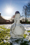 Melting snowman Royalty Free Stock Image