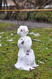 Melting snowman Royalty Free Stock Photos