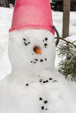 Melting snowman Stock Image
