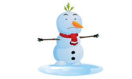 Melting Snowman Royalty Free Stock Images