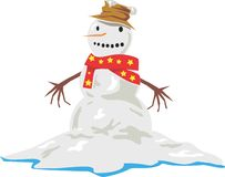 Melting Snowman Winter Stock Images