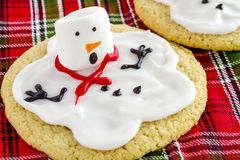 Melting Snowmen Decorated Sugar Cookies Royalty Free Stock Photography