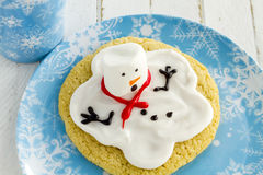 Melting Snowmen Decorated Sugar Cookies Royalty Free Stock Photo
